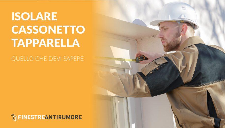 Isolare Cassonetto Tapparella